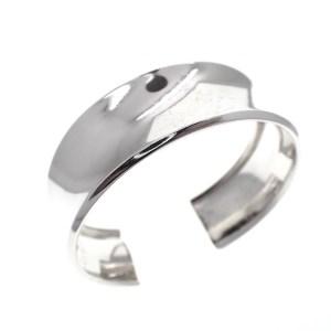 zilveren gladde klem armband