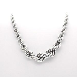 zilveren gedraaide ketting