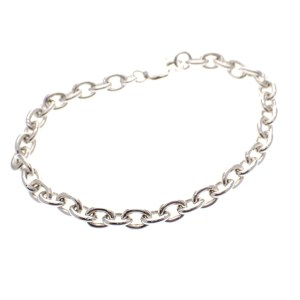 zilveren ankerschakel armband