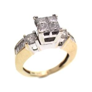 gouden cluster ring diamanten