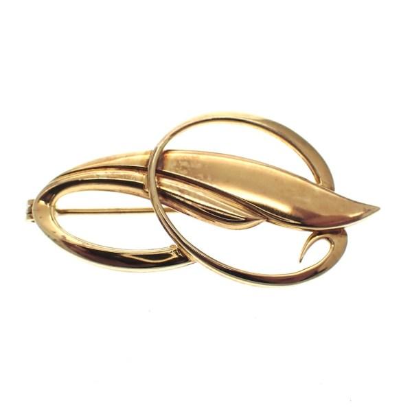 k&l gouden broche