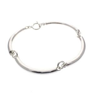 zilveren schakel armband buisjes