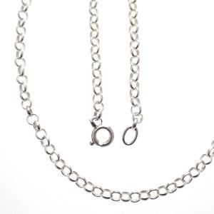 zilveren jasseron collier ketting