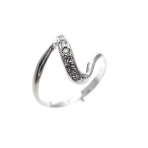 zilveren ring slag zirconia
