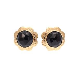 Vintage gouden oorstekers met gastjes granaat