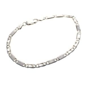 zilveren gesloten figaro schakel armband