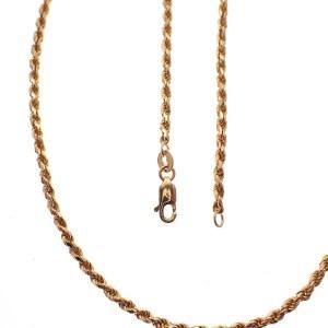 gouden gedraaide ketting