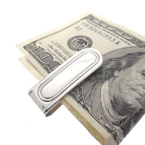 zilveren geldclip