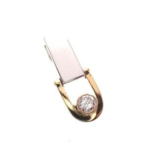 bicolor gouden hanger met diamant