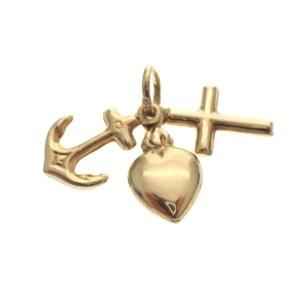 gouden geloof hoop liefde hanger