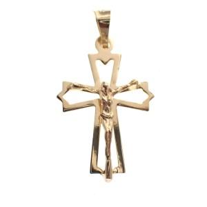 gouden hanger van kruit met corpus Jezus