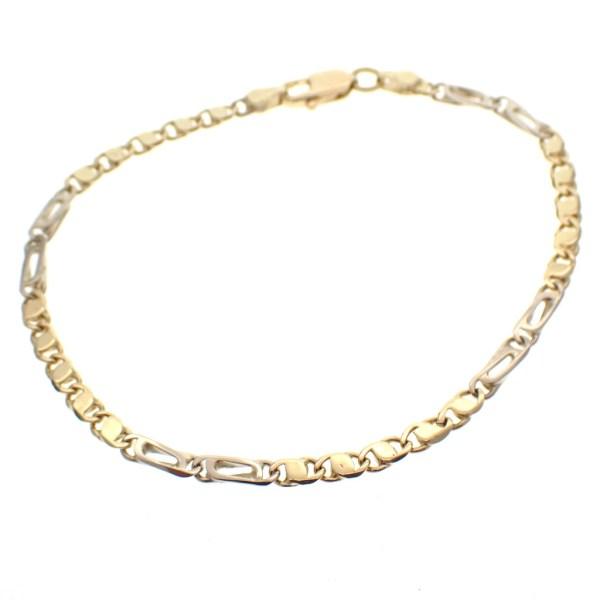 bicolor gouden armband
