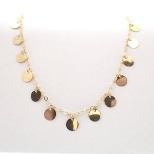 gouden feestelijke ketting collier
