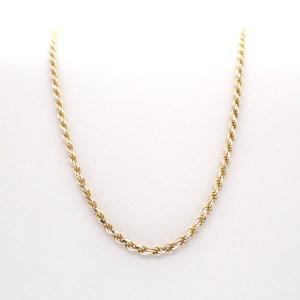 bicolor gouden gedraaide ketting