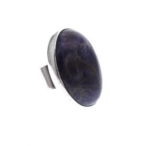 sodaliet ring zilver