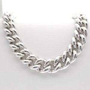 zilveren grote collier