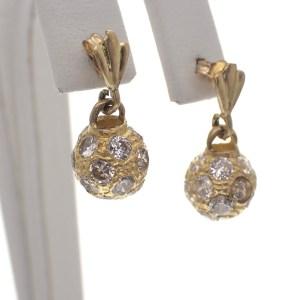 gouden oorbellen met bal