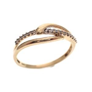 gouden rij ring met diamanten dames