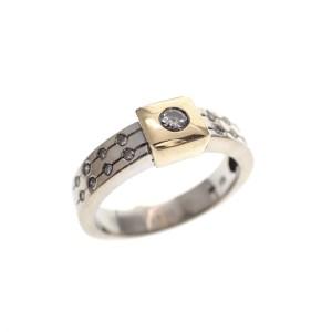 gouden design ring met diamant