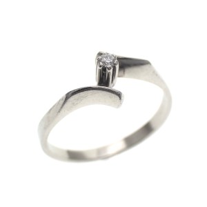 dames ring witgoud diamant