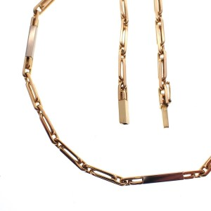 bicolour necklace gold