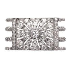 diamanten broche platina
