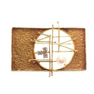 gouden design broche 18 karaat