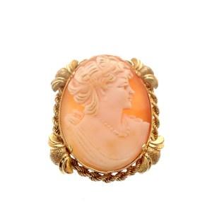 gouden broche camee antiek