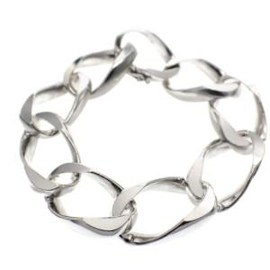 dikke zilveren armband