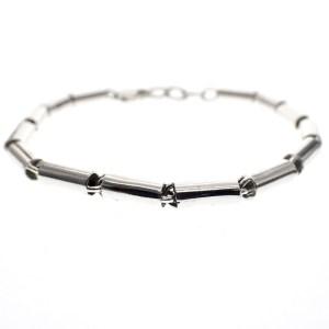 zilveren buisjes armband