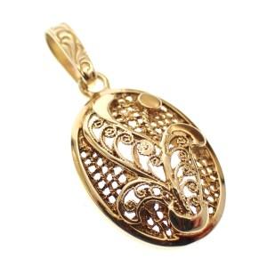 antieke kettinghanger goud
