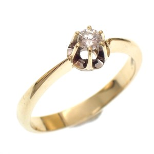 gouden verlovingsring diamant