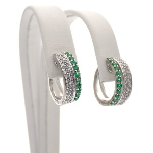 witgouden oorringen met diamant