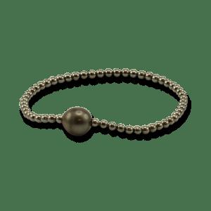 Gellner Flex Armband aus 925 Sterlingsilber mit Tahiti-Perle