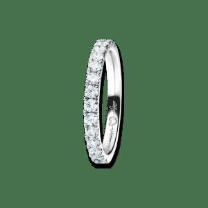 Capolavoro Diamante in Amore Memoireringaus 750 Weißgold mit 16 Diamanten (0,605 Karat) halb ausgefasst. Jetzt online kaufen bei www.juwelier-winkler.com