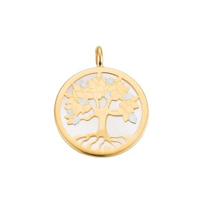 Lebensbaum Perlmutt Anhänger weiss Gelbgold 585er online bei juwelier-winkler.com im Schmuck Onlineshop kaufen. Kostenlose Lieferung Tirol