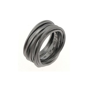 Pesavento GEO Ring Silber Schwarz Rhodiniert WGEOA002 online kaufen