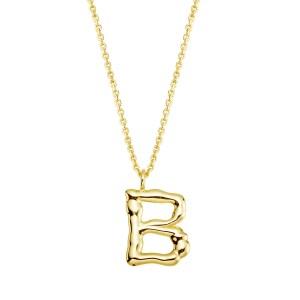Halskette mit Buchstaben Anhänger B jetzt online kaufen. Kostenlose Lieferung schnell und sicher bei juwelier-winkler.com einkaufen.