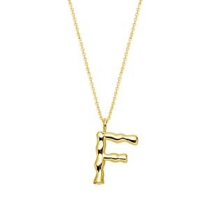 Halskette mit Buchstaben Anhänger F jetzt online kaufen. Kostenlose Lieferung schnell und sicher bei juwelier-winkler.com einkaufen.