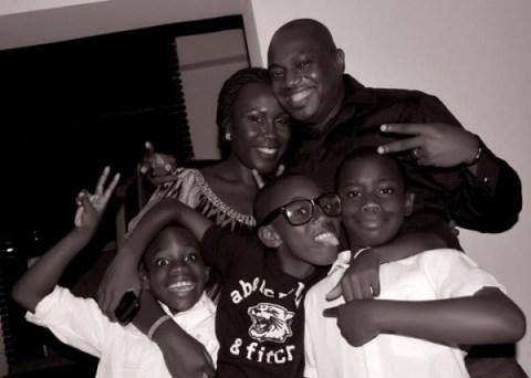 Fela-Tara-Durotoye-and-their-three-children