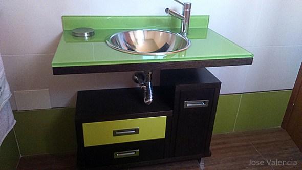 Mueble baño wengue Jose valencia carpintero