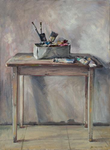 Tafel met verf