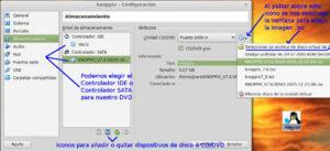 Añadir DVD a VirtualBox