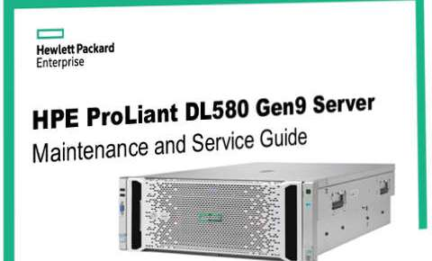 Manual servidores HP Proliant DL580