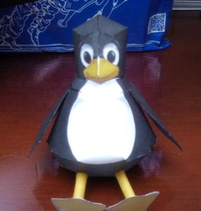 Montar pingüino recortable 04