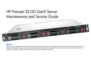 Manuales de servicio servidores Proliant DL120
