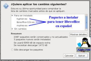 Poner Libreoffice español en knopix 7.5