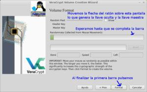 Crear master key Veracrypt