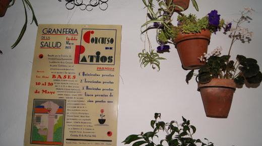 Frescor entre flores en los patios de Córdoba