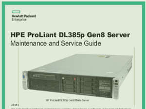 Manuales de Servidores Proliant DL385